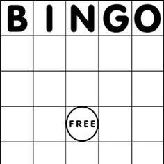 Blank Bingo Cards Template Free – 2017 Calendar