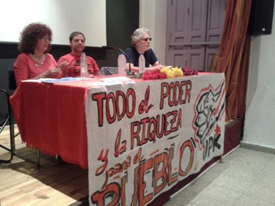 Elena Ortega, Mikel Jiménez y Carlo Frabetti en la presentación de UPK. PÚBLICO
