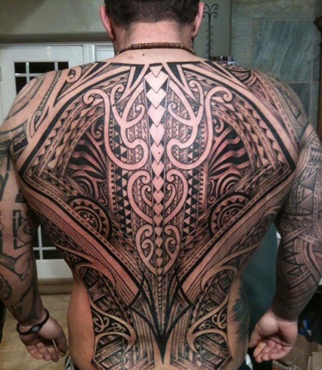 28 Awesome Tribal Back Tattoos