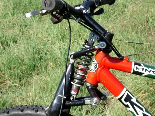 Hossack mountain bike suspension