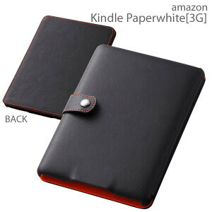 [amazon Kindle Paperwhite [3G]専用]フラップタイプ・レザー風ジャケット(ブラック)RT-KPLC1/B...