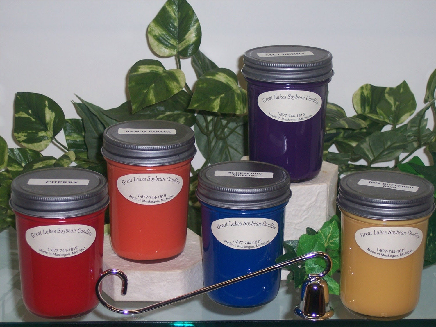 GREAT LAKES SOYBEAN CANDLES 12 JARS FOR 50 DOLLARS SHIPPING FLAT RATE  15 DOLLARS ANY SCENT