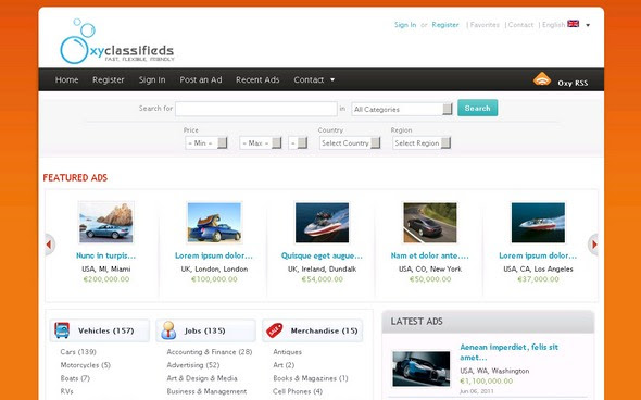 OxyClassifieds - Powerful and Flexible Classified Ads Software