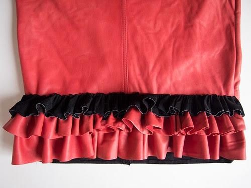 leather-skirt-ruffle
