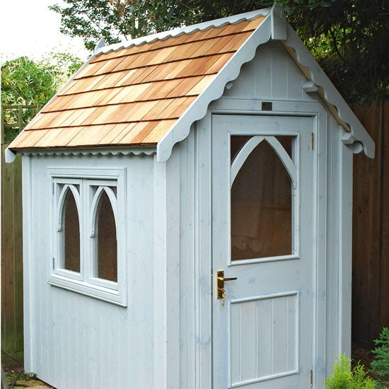 Gothic shed from The Posh Shed Company | Buyer's guide to sheds and summerhouses | Garden ideas | PHOTO GALLERY | Ideal Home