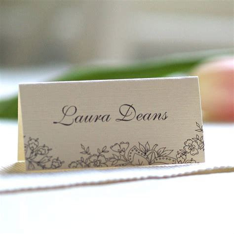 Personalised Lace Design Name Cards   Lace design, Place