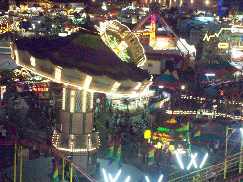 Erie County Fair: Midway at Night II