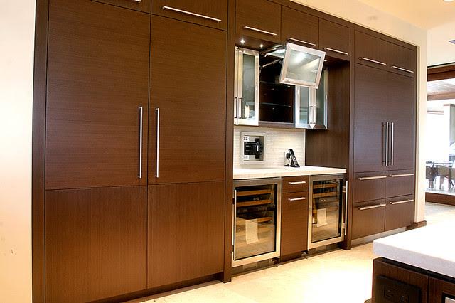 Kitchen/Bar (Cabinet Parts; FineWoods Hawaii) - modern - hawaii
