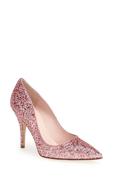 glitter pink kate spade pumps  favorite