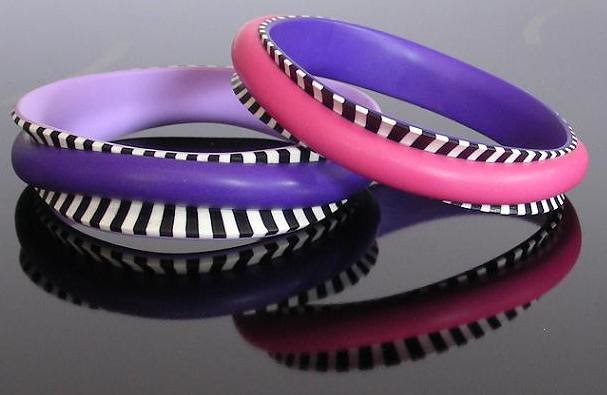 bright stripes bangles