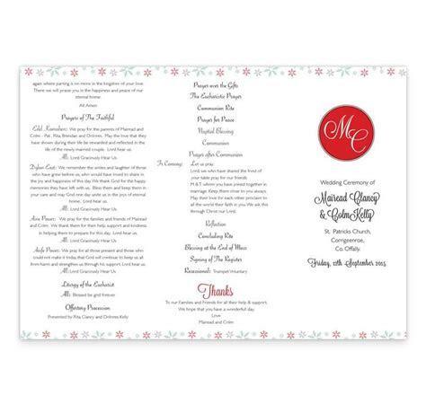 Winter Romance Wedding Ceremony Booklet   Loving Invitations