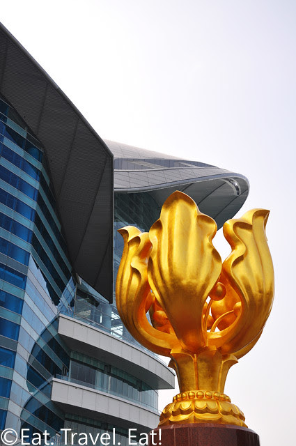 Golden Bahunia with HKCEC- Wan Chai, Hong Kong