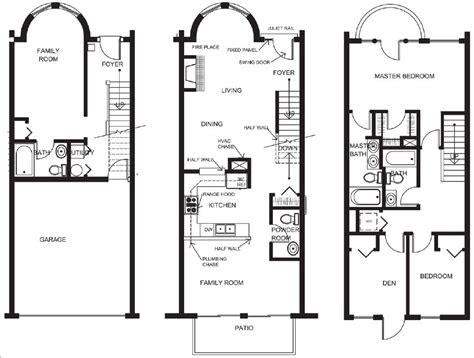 genius small townhouse floor plans house plans