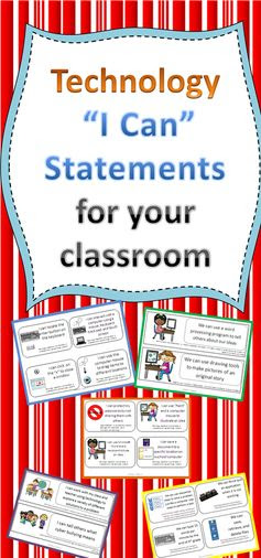 Technology I Can Statements for the Classroom Teacher. Help your students prepare for the 21st century with these strategies- blog post