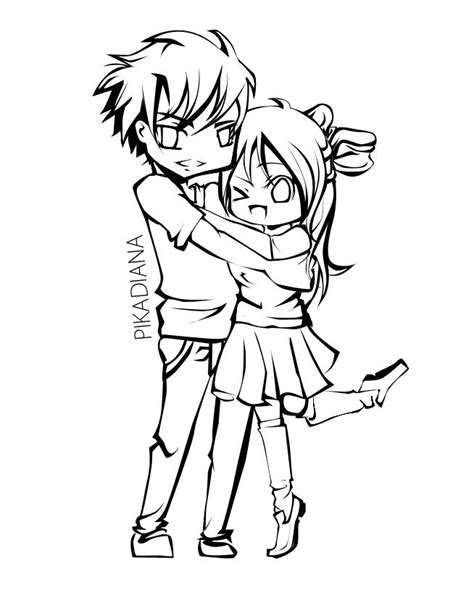 cute couple coloring pages scicomnyccom doodle