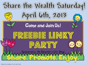 Share the Wealth-April 20th- Freebie Linky
