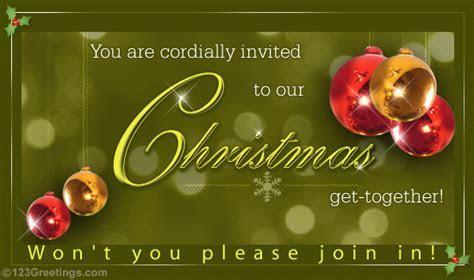 Merry Christmas Invitation! Free Invitations eCards