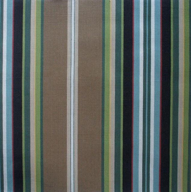 50W X 72L Shower Stall Curtain Carlton Stripe Walnut Brown
