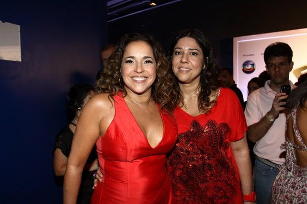 Daniela Mercury e a namorada Malu Verçosa nos bastidores do Criança Esperança (Foto: Thyago Andrade e Gabriela Andrade/ Fotorio News)