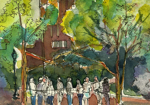 Waiting in line, Madison Square Park, New York, NY
