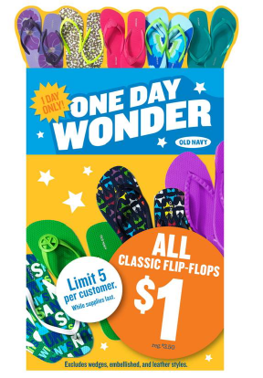 $1 Flip Flops at Old Navy