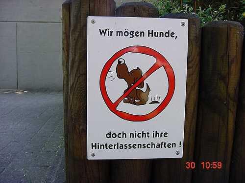 wolkenmond :: Schilder: kein Hundeklo