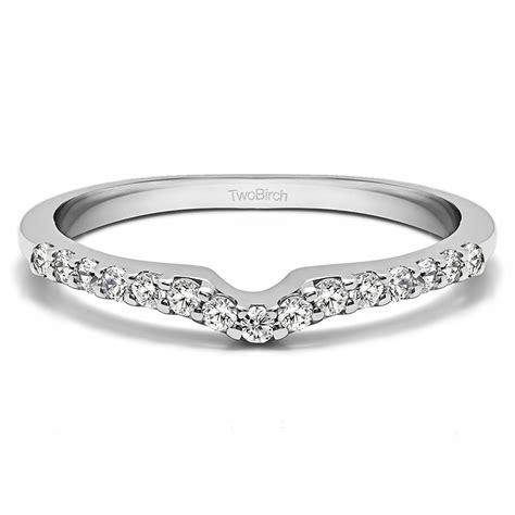 Sterling Silver Delicate Notched Contour Band (0.25Ct)   eBay