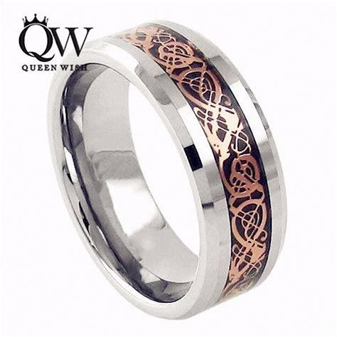QUEENWISH 6mm Tungsten Carbide Wedding Bands Ring Rose