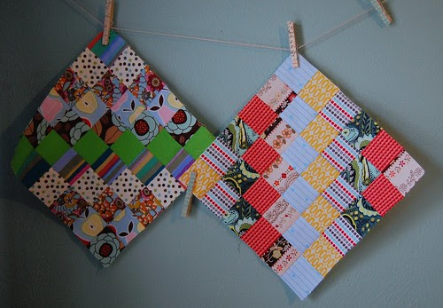 Scrappy trip along blocks for Sharon