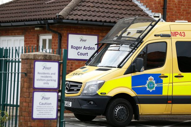 Police attend sheltered accommodation at Roger Arden Court, in Brookhill Road in Bootle