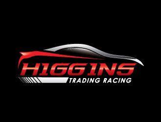 higgins trading racing logo design  polished design