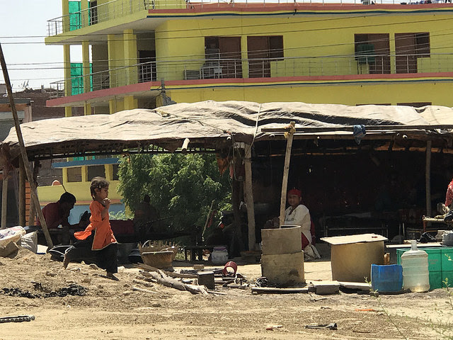 A Rohingya campsite in New Delhi. Credit: Neeta Lal/IPS