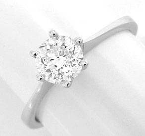 Originalfoto DIAMANT-RING KRAPPEN 0,711ct DIAMANT 18K-WG LUXUS! NEU!