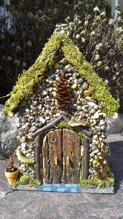 miniature stone fairy house diy projects
