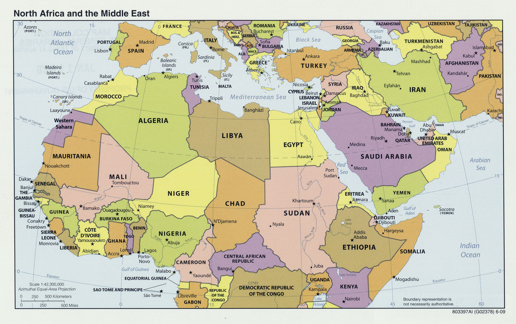 Southwest Asia And Africa Map | Map Of Africa