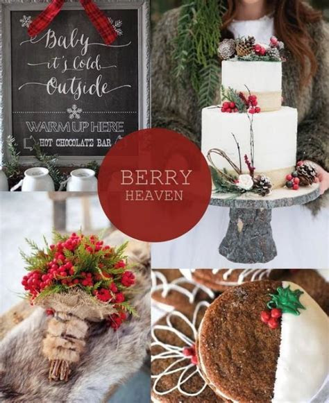 Hot Christmas Winter Wedding Color Palette Ideas #2365410