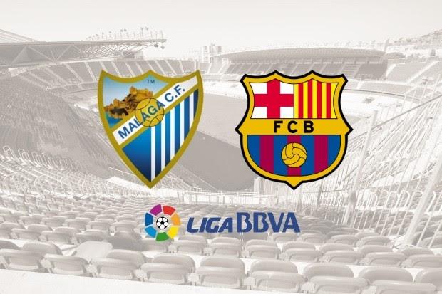 Image result for Malaga vs Barcelona
