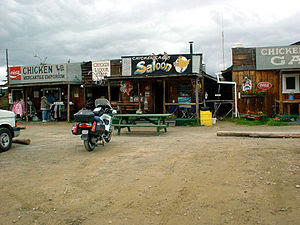 English: Shops in downtown