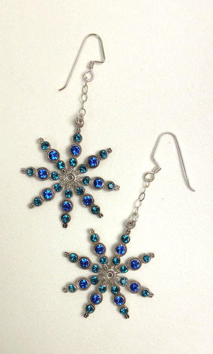 Swa Snowflake Earrings