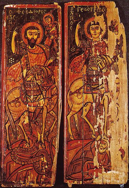 File:St Theodor & George Sinai 9-10th century.jpg
