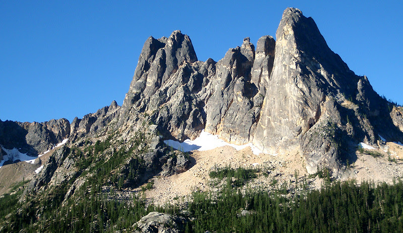Early Winter Spires and Liberty Bell Mountain