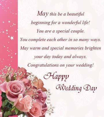 Wedding Congratulation Greeting Messages   Sample Messages