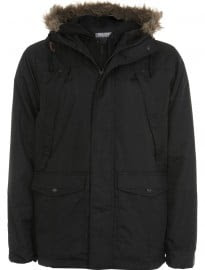 Burton Black Fur Trimmed Hooded Jacket