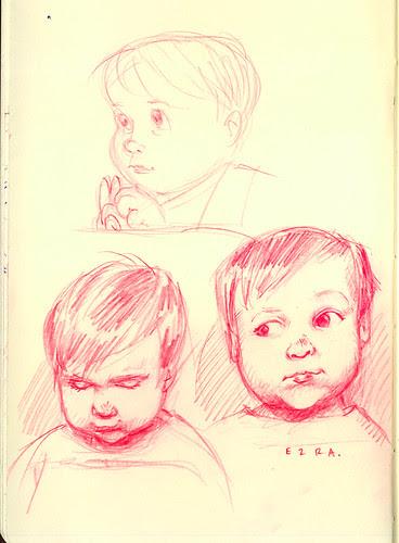 sketchdump: rough ezra sketches