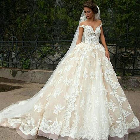 Vintage 2016 Cinderella Ball Gown Wedding Dresses Sheer