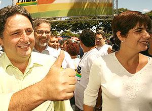 Rosinha Matheus ao lado do marido, Anthony Garotinho