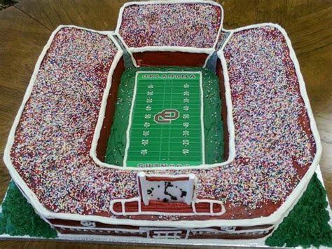 OU football stadium cake   Stadium Cakes   Birthday cake