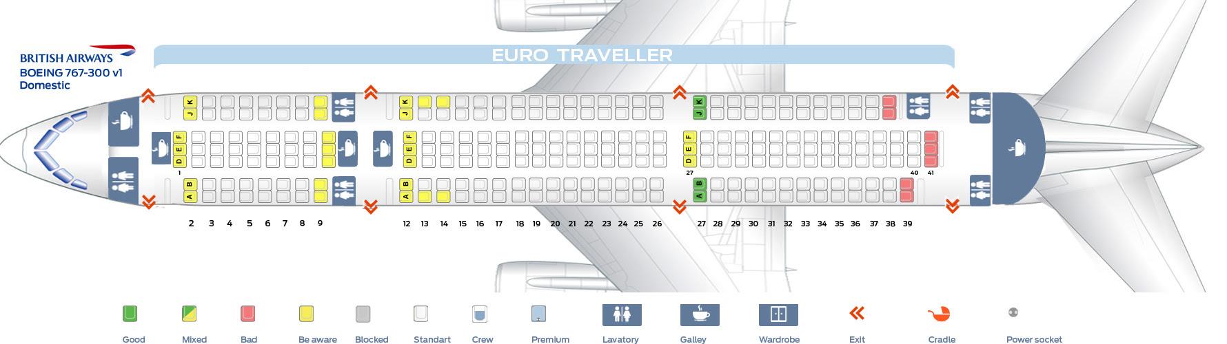 Seat Diagram Of Boeing 767 - Wiring Diagram Sch on
