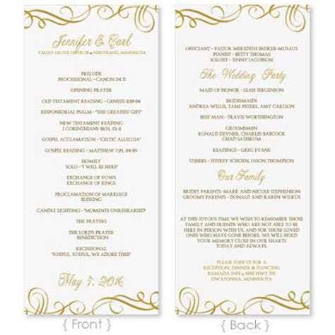 wedding program template  instantly edit