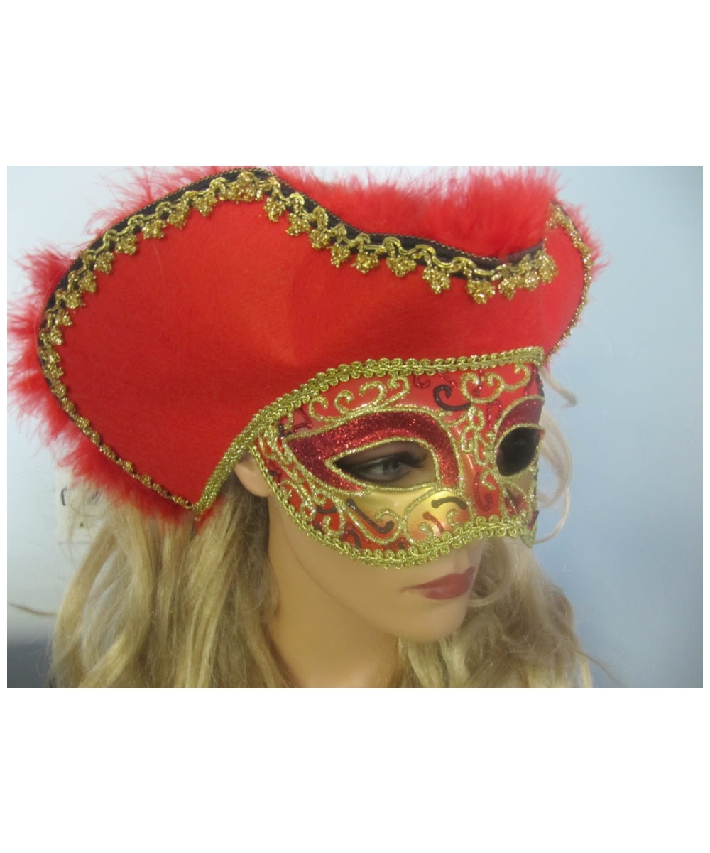 adult red venetian masquerade mask  costume mask